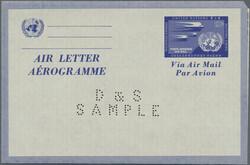 6585: UNO New York - Postal stationery