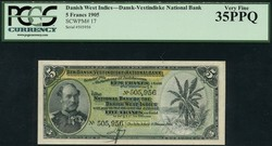 110.560.88: Banknoten - Amerika - Dänisch Westindien