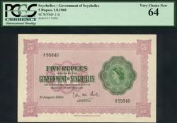 110.550.345: Banknoten - Afrika - Seychelles