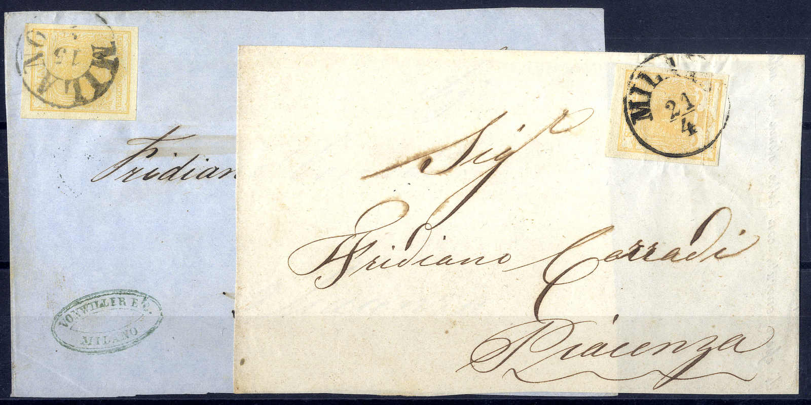Lot 1628 - europe lombardy venetia -  Viennafil Auktionen Auction #66 Worldwide Mail Auction: Italy, Austria, Germany, Europe and Overseas