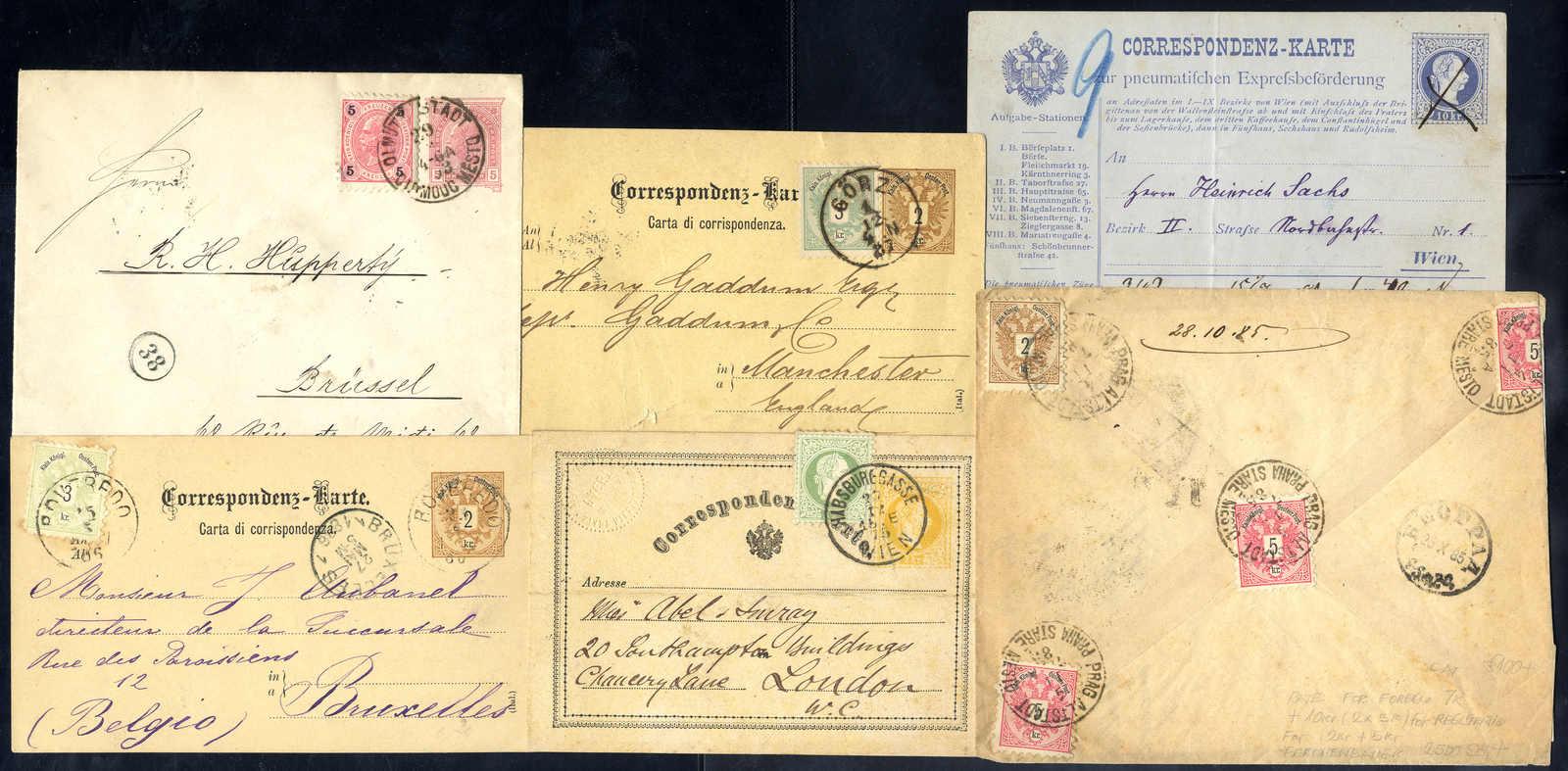 Lot 3874 - Lots and Collections collections and lots austrian areas -  Viennafil Auktionen 63rd LIVE AUCTION
