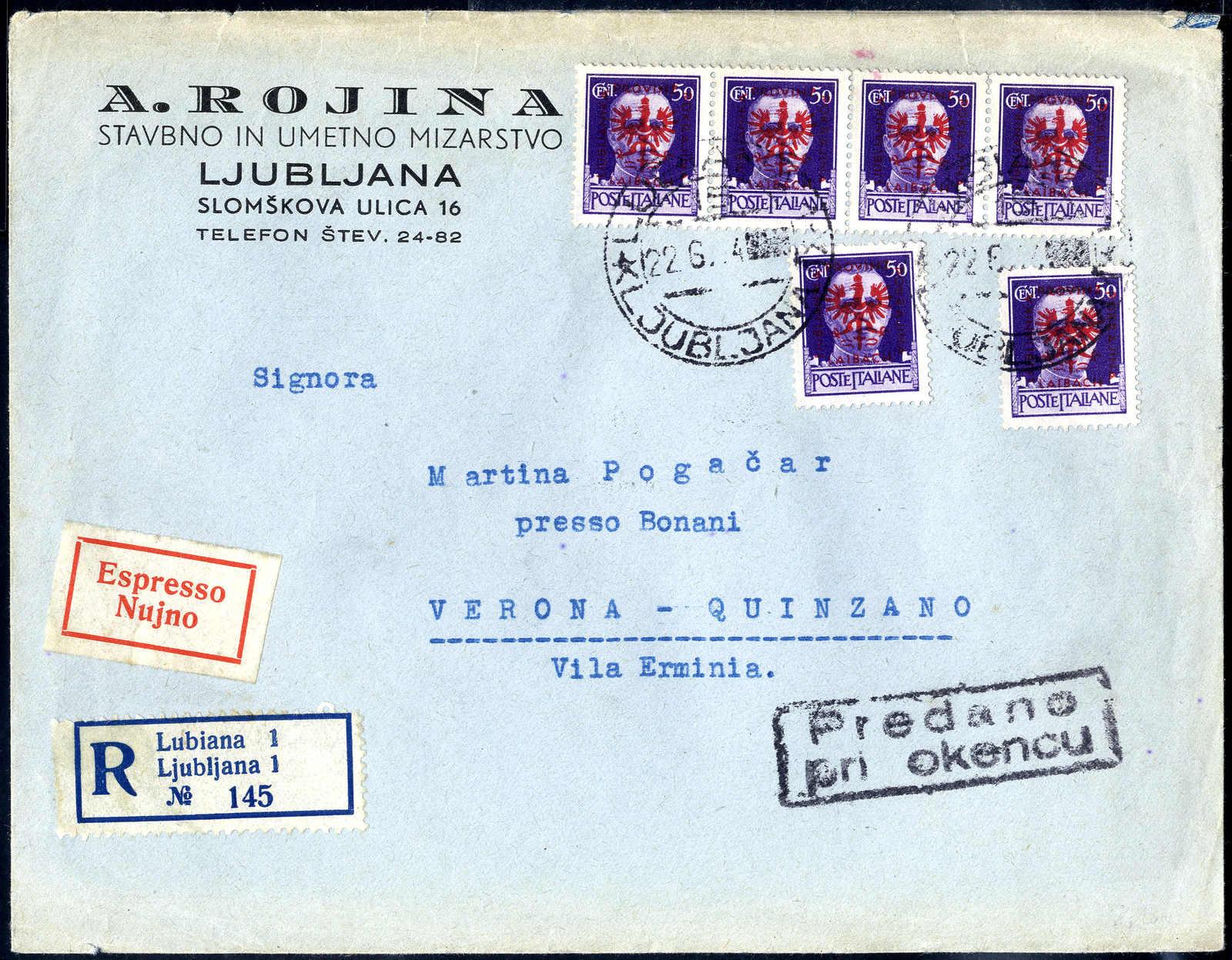Lot 3056 - germany German Occupation II. Worldwar Laibach -  Viennafil Auktionen 63rd LIVE AUCTION
