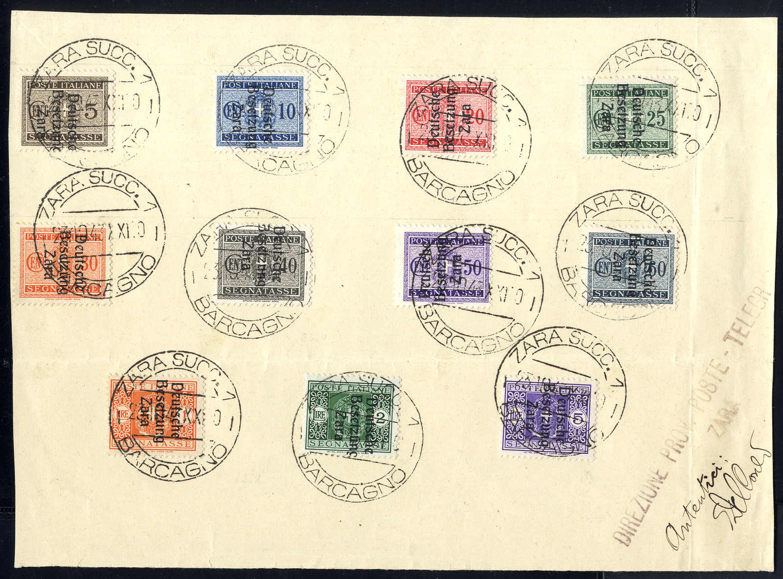Lot 3065 - germany german occupation ii. worldwar zara -  Viennafil Auktionen 63rd LIVE AUCTION
