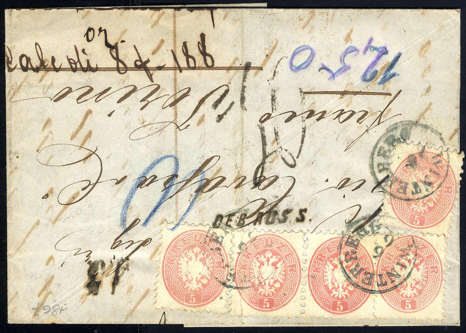 Lot 2057 - europe Austria 1863/64 Issue -  Viennafil Auktionen 63rd LIVE AUCTION
