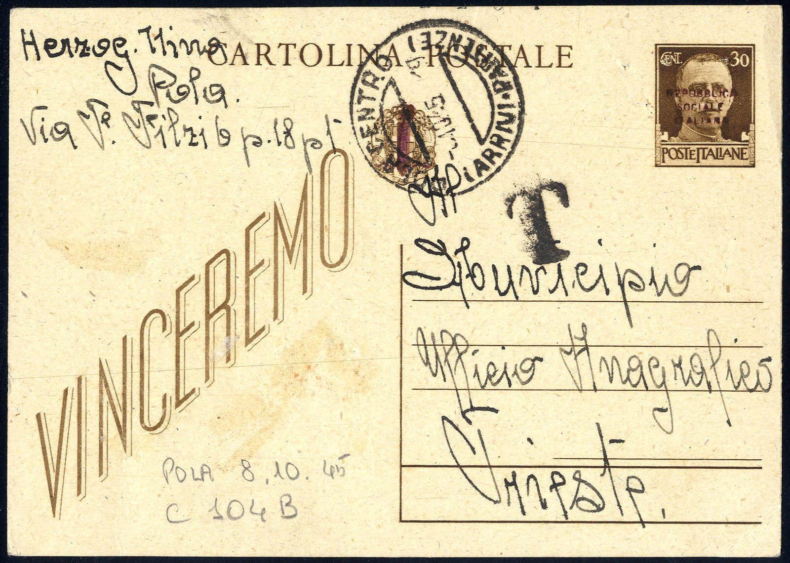 Lot 834 - europe Italy Royal Mail -  Viennafil Auktionen 63rd LIVE AUCTION