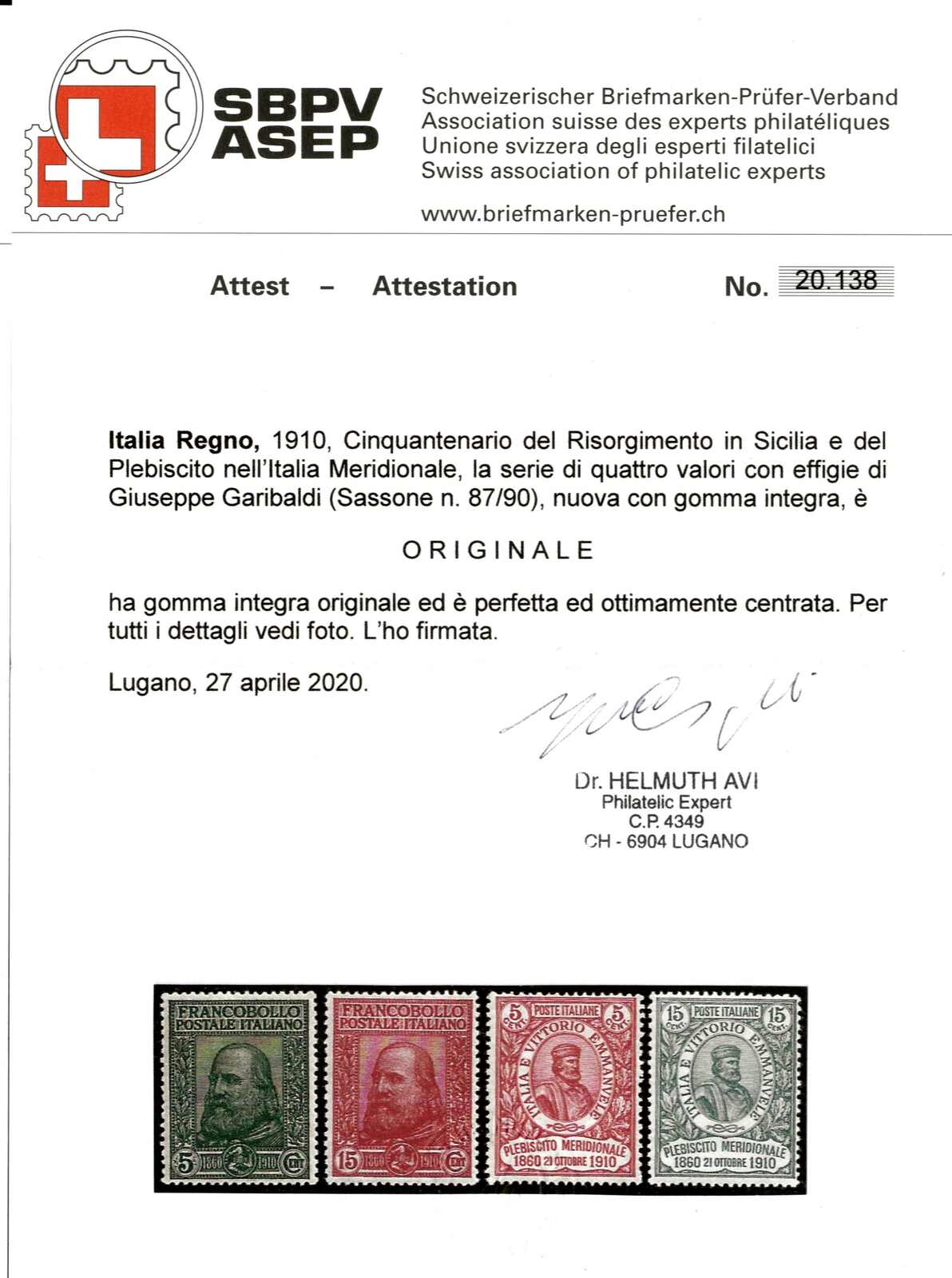 Lot 552 - europe Italian Kingdom -  Viennafil Auktionen Auction #66 Worldwide Mail Auction: Italy, Austria, Germany, Europe and Overseas