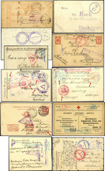 724010: Kriegsgefangenenlagerpost 1. WK - Briefe Posten