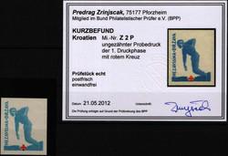 4085: Kroatien - Zwangszuschlagsmarken
