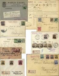155: Deutsche Auslandspost Marokko - Briefe Posten