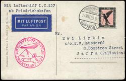 982540: Zeppelin, Zeppelinpost LZ 127, Agypten u. Orientfahrten