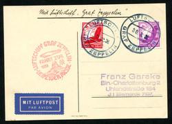 982518: Zeppelin, Zeppelinpost LZ 127, Deutschlandfahrten 1936