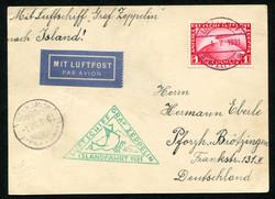 982550: Zeppelin, Zeppelinpost LZ 127, Islandfahrten