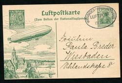 981099: Zeppelin, Zeppelinpost vor WW-I, sonstige