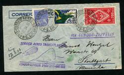 982528: Zeppelin, Zeppelinpost LZ 127, Südamerikafahrten 1933