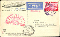 982558: Zeppelin, Zeppelinpost LZ 127, Polarfahrt
