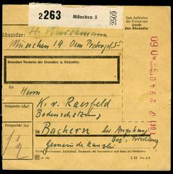 1291: Gebühr bezahlt, Belege 45-48, Notmaßnahmen - Besonderheiten