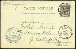2710: Französisch Indochina Südchina A: Allg. Ausg. - Ganzsachen