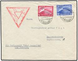 982521: Zeppelin, Zeppelinpost LZ 127, Chicagofahrt