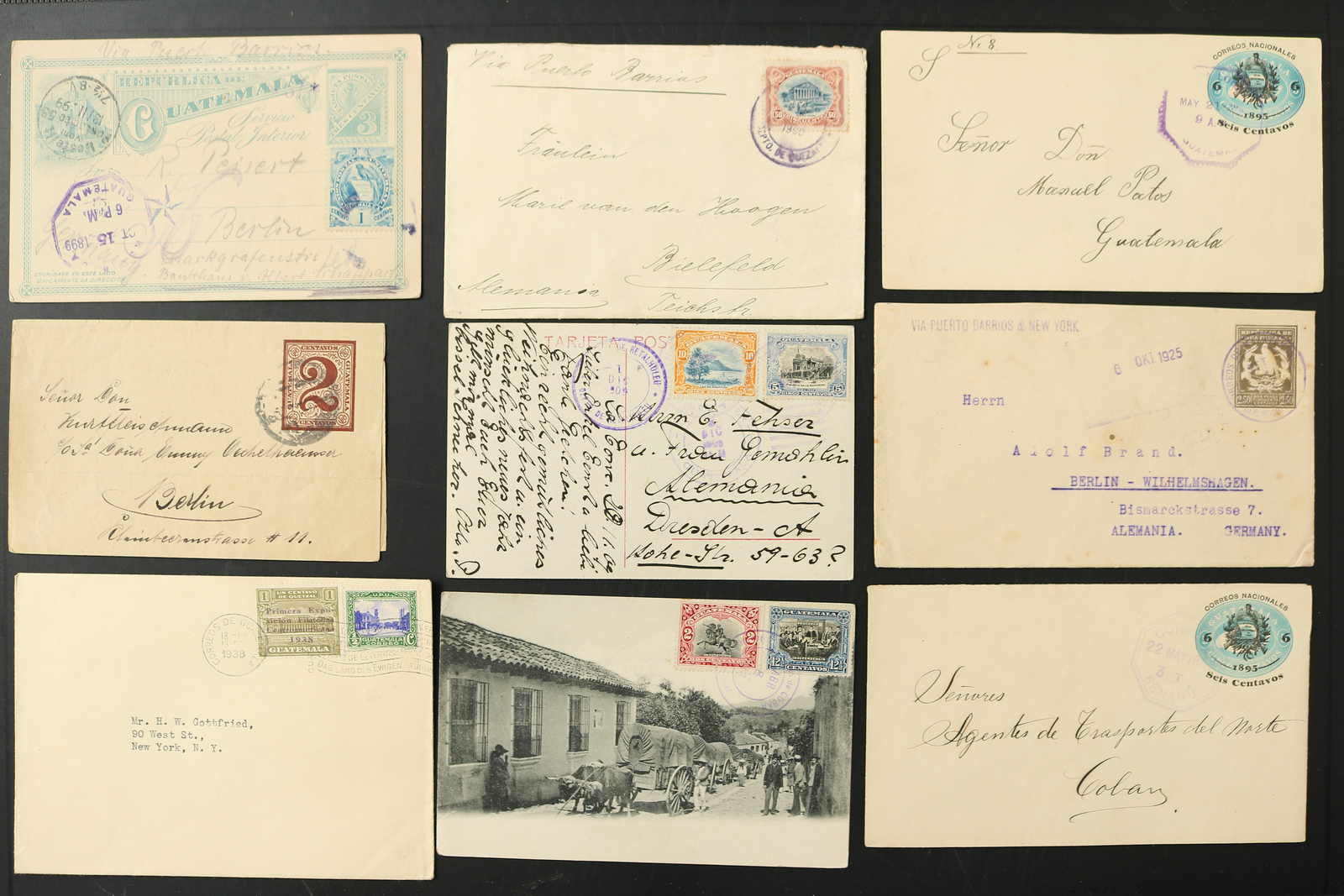 Schlegel Auctions Berlin - Guatemala Covers bulk lot