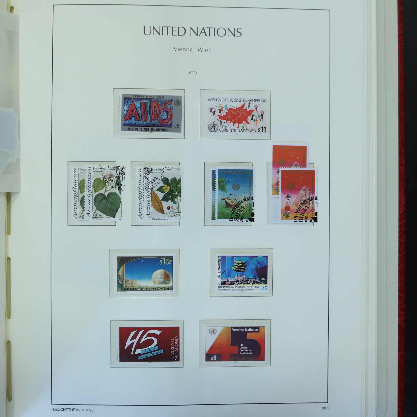 0-1 50 Jahre Vereinte Nationen Topical Stamps Worldwide Cheap Sale Uno Ny Gestempelt 1995 Markenheft Minr