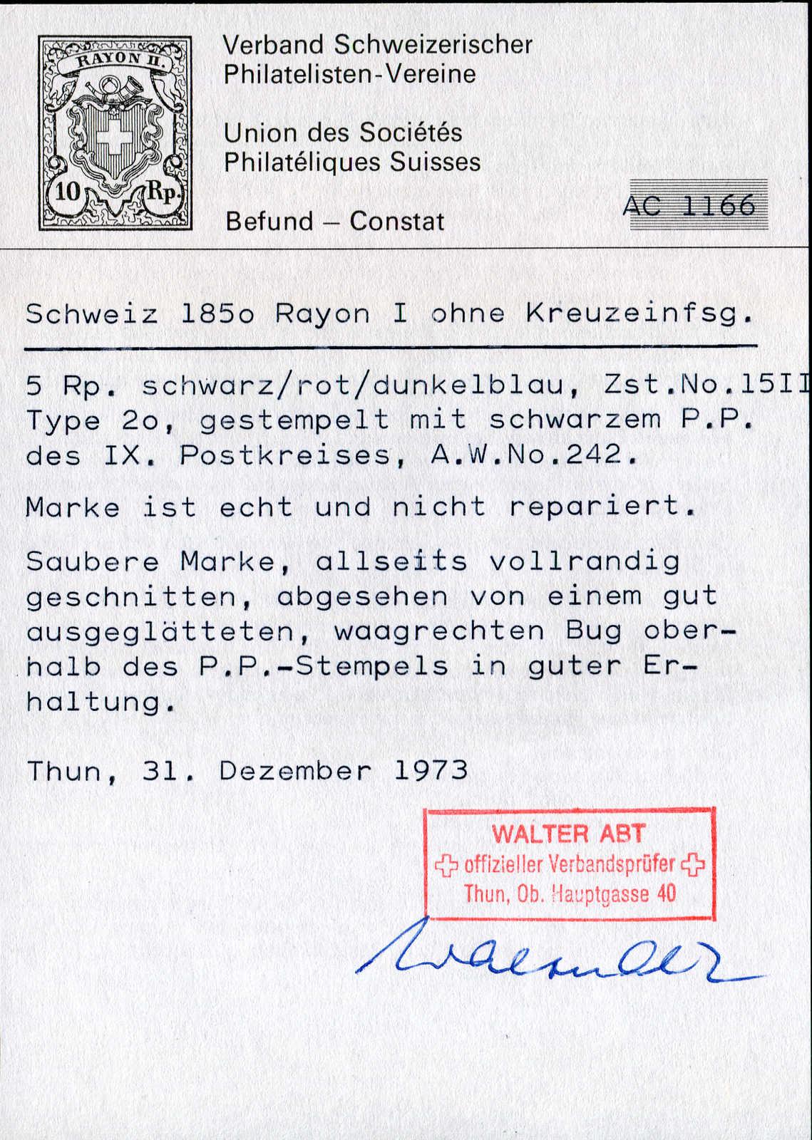Lot 5256 - Europe A-Z Switzerland -  Auktionshaus Schlegel 26 Public Auction