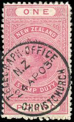 4565: Neuseeland - Stempelmarken