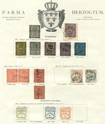 3380: Italien Staaten Parma - Sammlungen