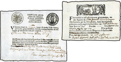 3358: Italien Vorphilatelie - Dokumente