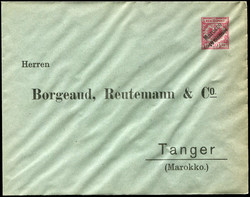 155: German Post in Morocco - Stamps bulk lot