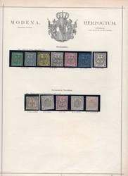 3365: Italien Staaten Modena - Sammlungen