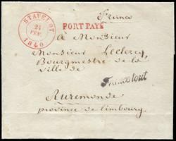 1810: Belgien - Vorphilatelie