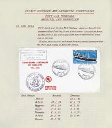 2680: Französische Gebiete in der Antarktis - Briefe Posten