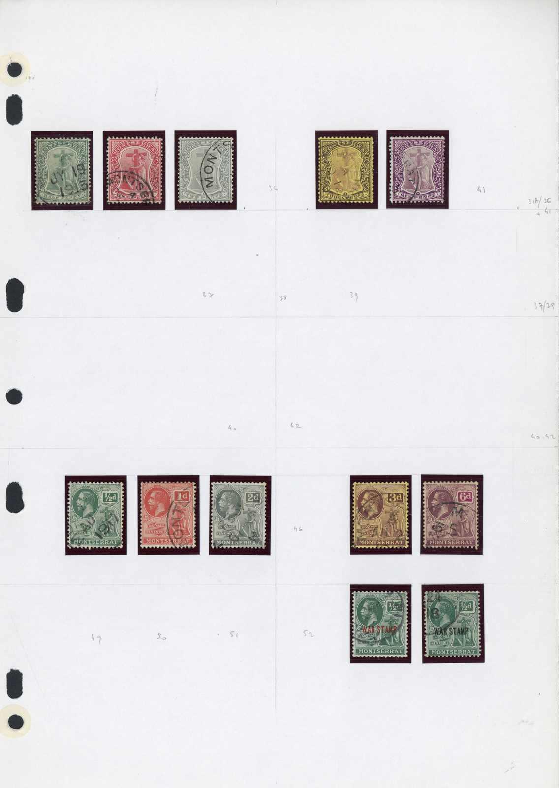 Lot 2943 - COLLECTIONS & ACCUMULATIONS montserrat -  Auktionshaus Schlegel 26 Public Auction