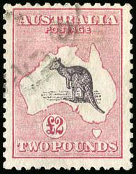 1750030: Australien - Känguruhs - drittes Wasserzeichen