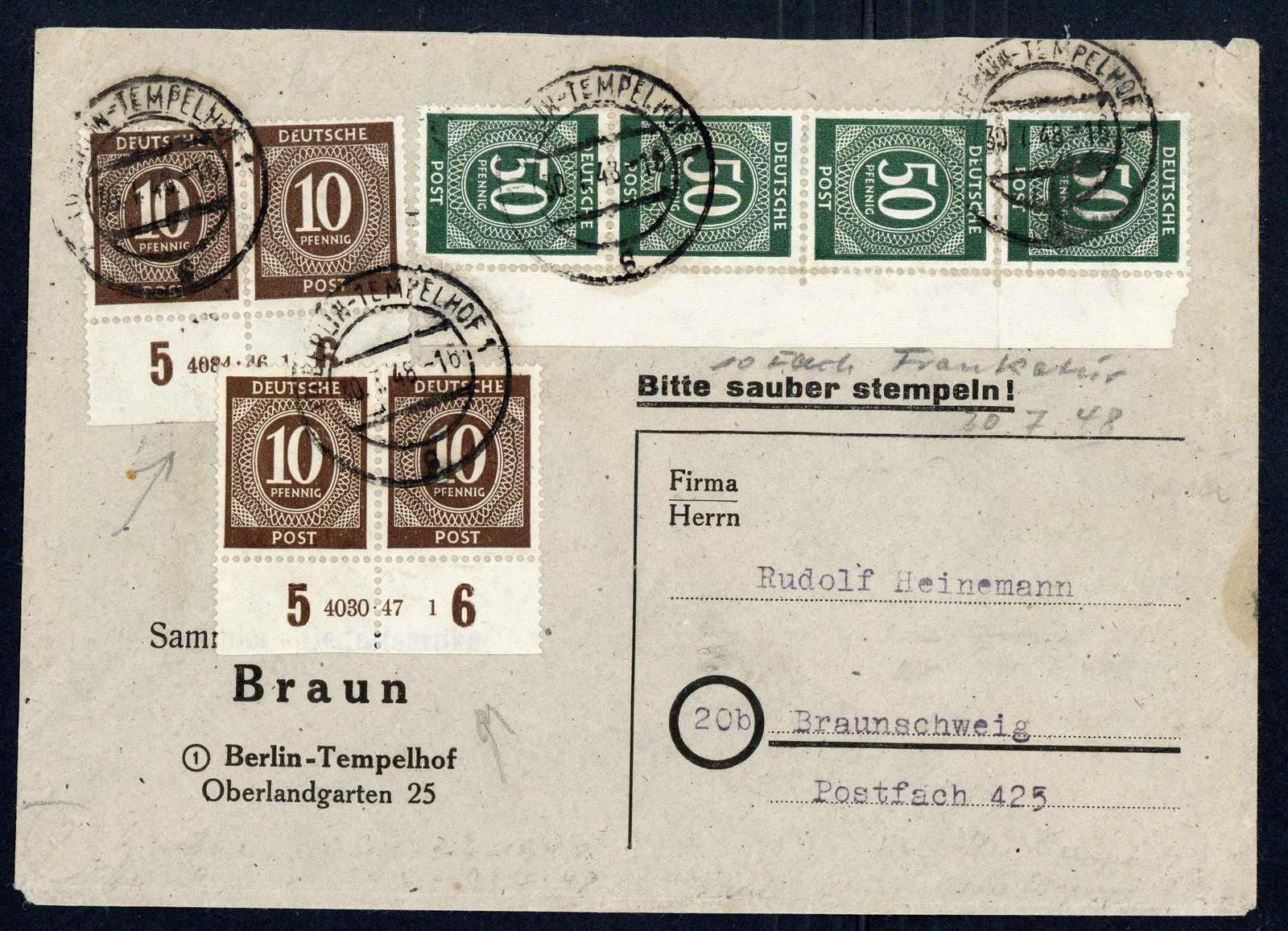 Lot 1760 - COLLECTIONS & ACCUMULATIONS berlin vorläufer -  Auktionshaus Schlegel 26 Public Auction