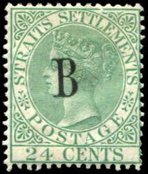 4245: Malaiische Staaten Straits Settlements Post in Bangkok