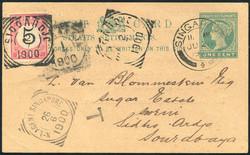 4240: Malaiische Staaten Straits Settlements - Ganzsachen