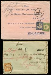 4240: Malaiische Staaten Straits Settlements - Briefe Posten
