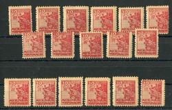 1370020: SBZ Mecklenburg Vorpommern - Stamps bulk lot