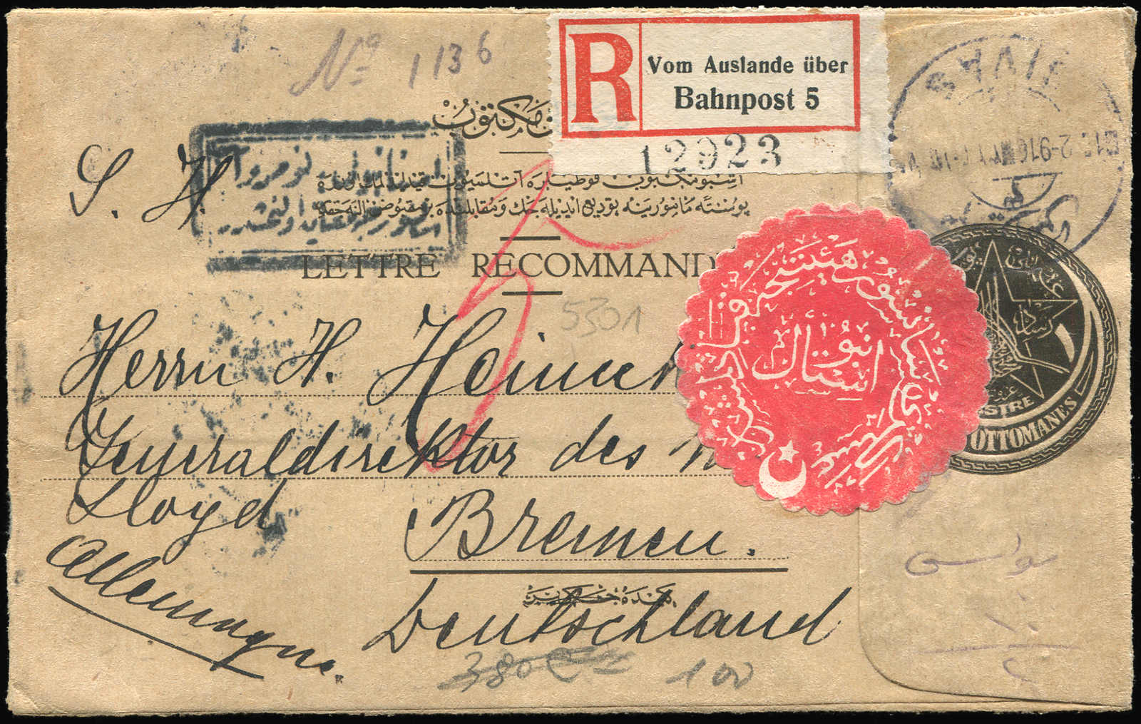Lot 6318 - Deutsches Reich Deutsche Auslandspost Turkey -  Auktionshaus Schlegel 26 Public Auction
