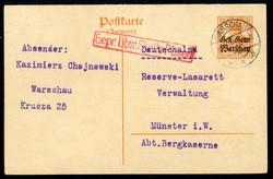 400: Deutsche Besetzung I. WK Polen - Briefe Posten