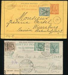 3560: Italienisch Eritrea - Briefe Posten