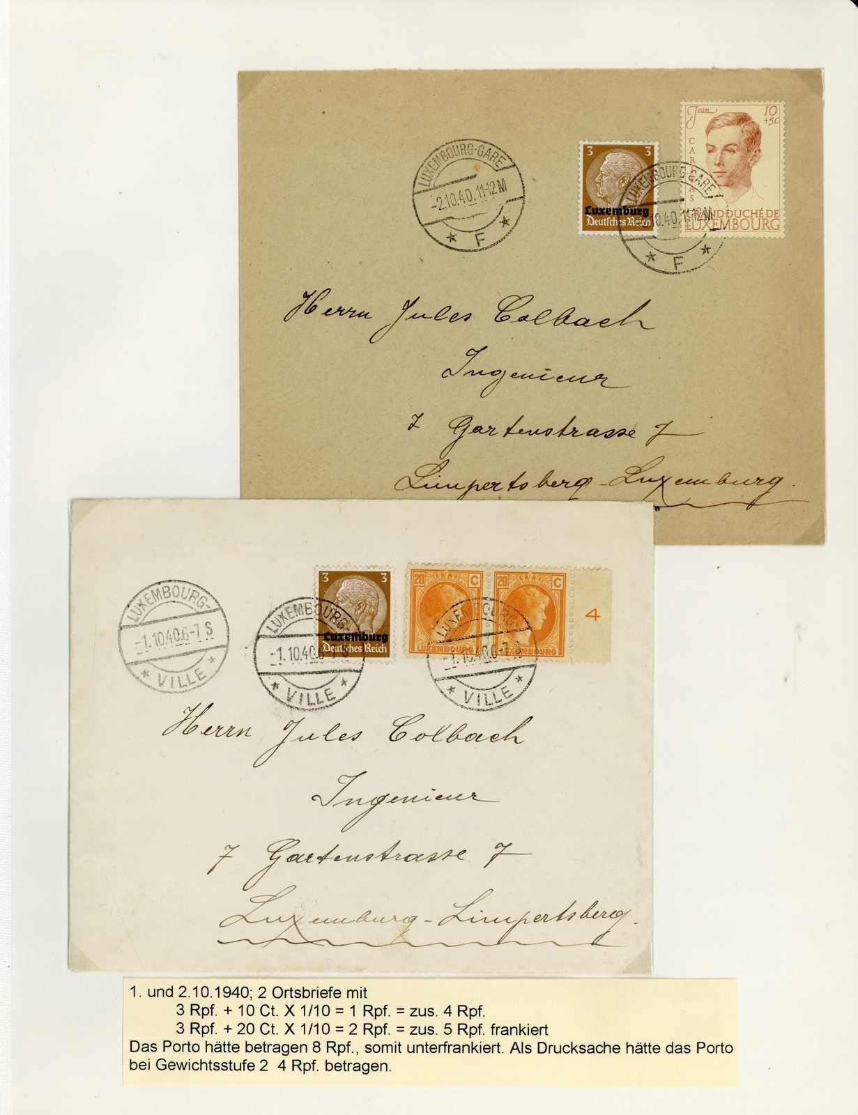 Lot 1650 - COLLECTIONS & ACCUMULATIONS Deutsche Besetz.II.WK Luxembourg -  Auktionshaus Schlegel 26 Public Auction