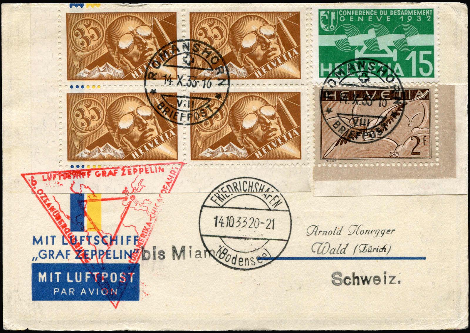 Lot 9114 - Zeppelin/Air Mail Zeppelin, Zeppelinpost LZ 127, Chicagofahrt -  Auktionshaus Schlegel 26 Public Auction