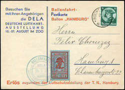 446810: Luftfahrt, Ballon, Ballonpost