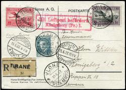 1620: Albanien - Flugpostmarken