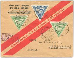 4145: Lettland - Flugpostmarken