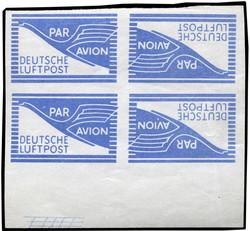 1310: Bizone Flugpost-Zulassungsmarke