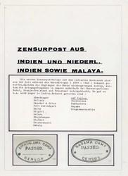 7758: Sammlungen und Posten Zensurpost