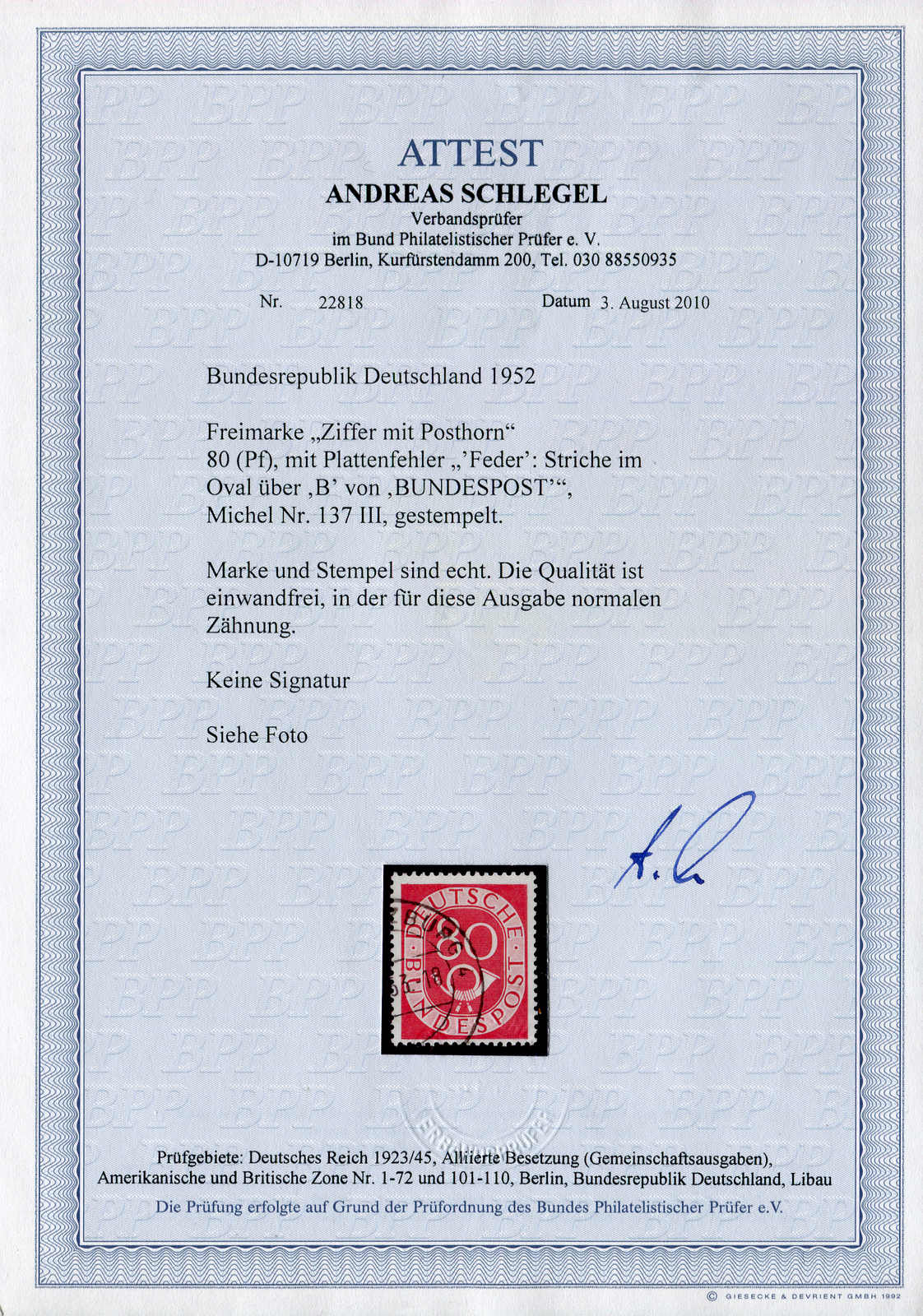 Lot 8379 - federal republic of germany bundesrepublik deutschland -  Auktionshaus Schlegel 26 Public Auction